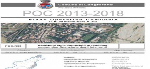 Municipality of Langhirano (PR) - Economic assessment of the interventions for the National Plan for the Cities